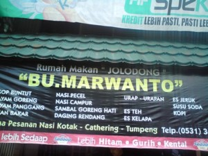 Rumah makan Bu Murwanto:unforgettable lunch..!