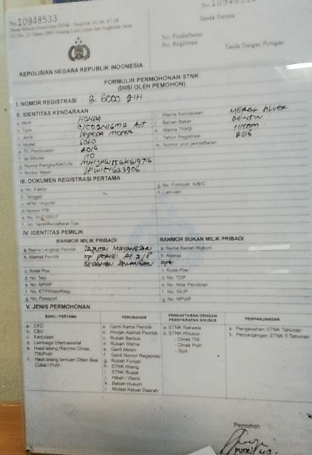 Pengalaman Balik Nama Stnk Dan Bpkb Motor Di Samsat Depok